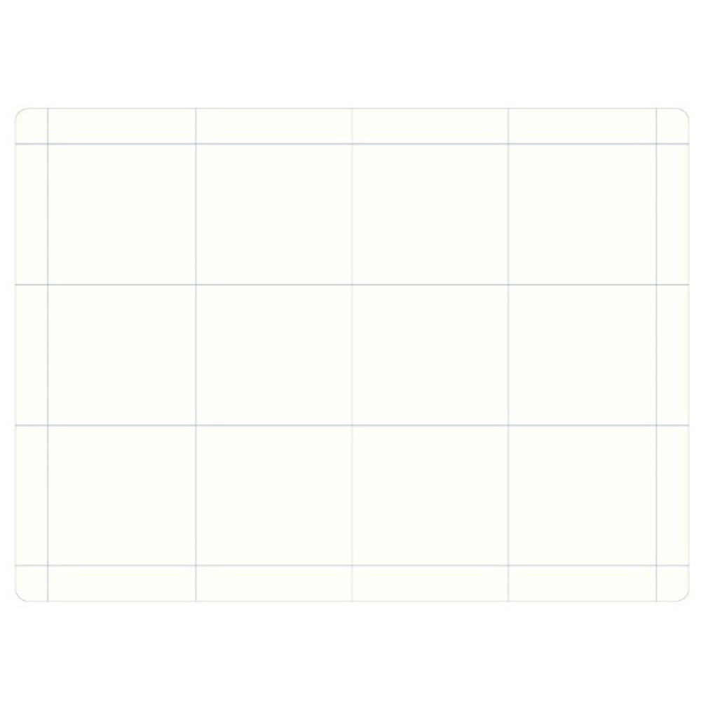 6 pieces grid - The way of remembering 3 type grid notebook