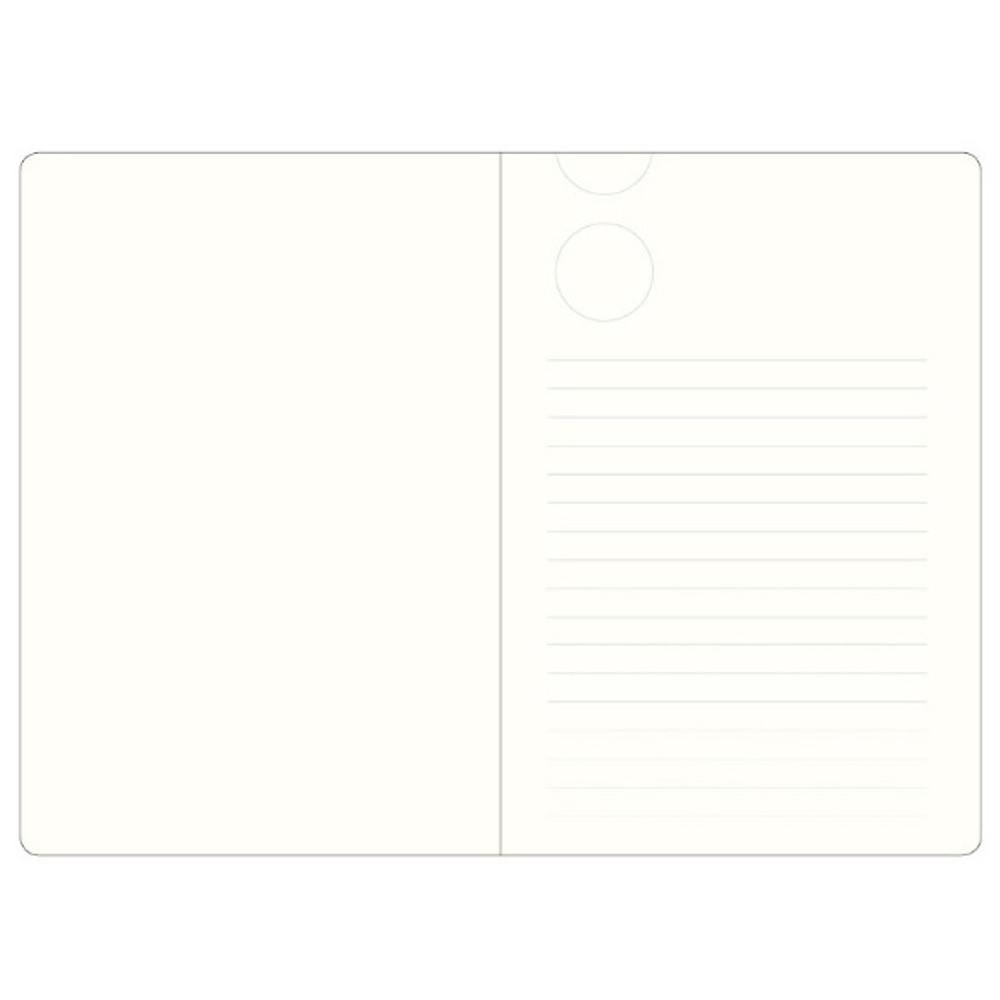 Inner page - The way of expressing blank and lined notebook