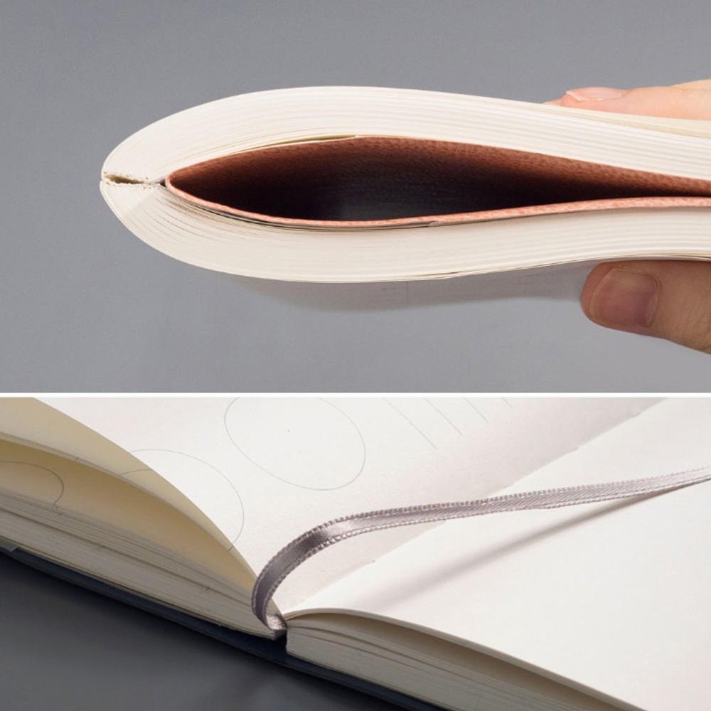 Ribbon bookmark - The way of expressing blank and lined notebook