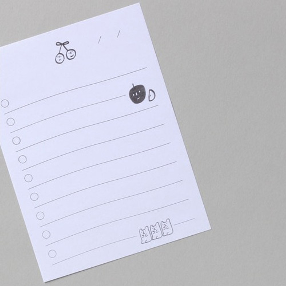 Example of use - Dash and Dot Oh my sticky checklist memo notepad