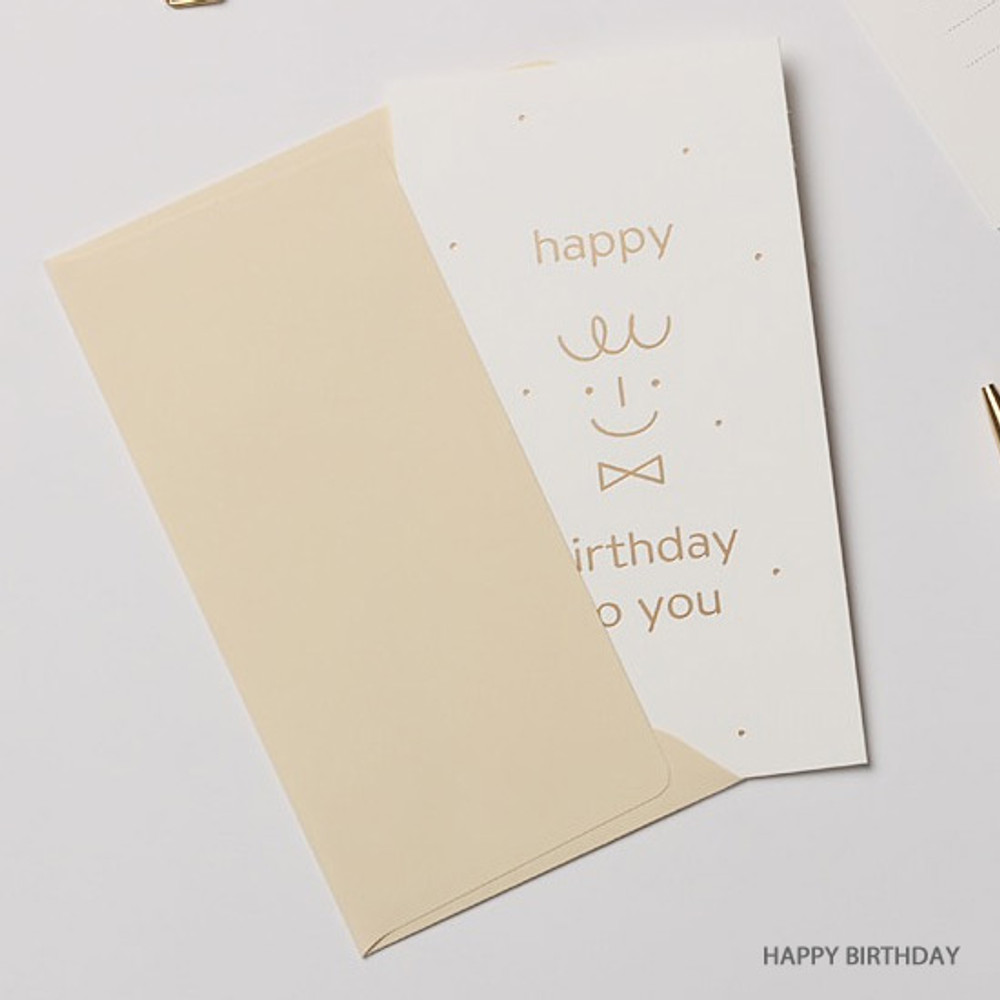 Happy birthday - Foil accent message card with envelope