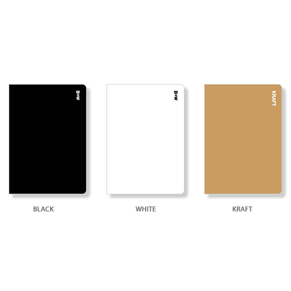 Color - Ardium B+W kraft softcover large lined notebook