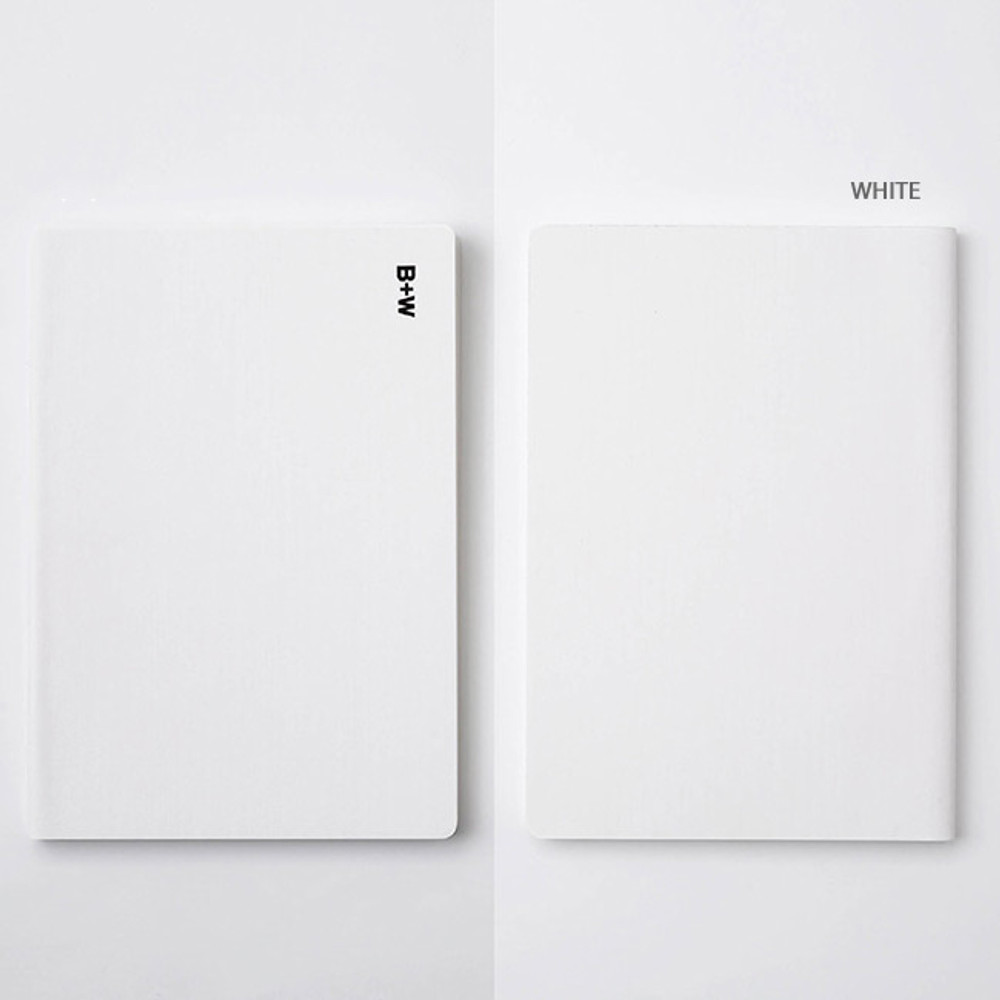 White - Ardium B+W kraft softcover large lined notebook