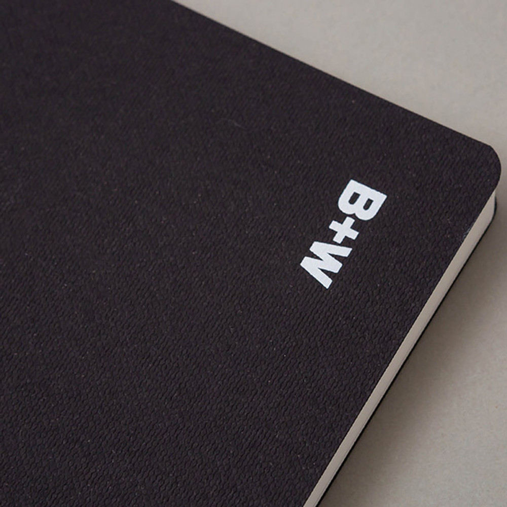 Black - Ardium B+W kraft softcover large lined notebook