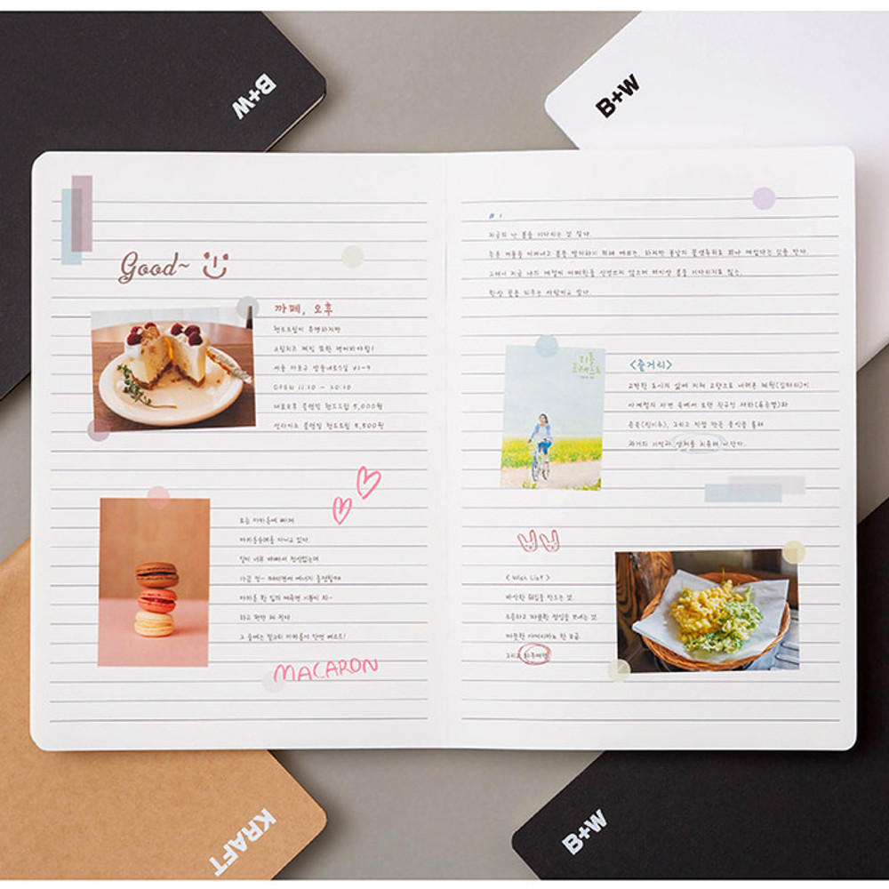 Example of use - B+W kraft softcover large lined notebook