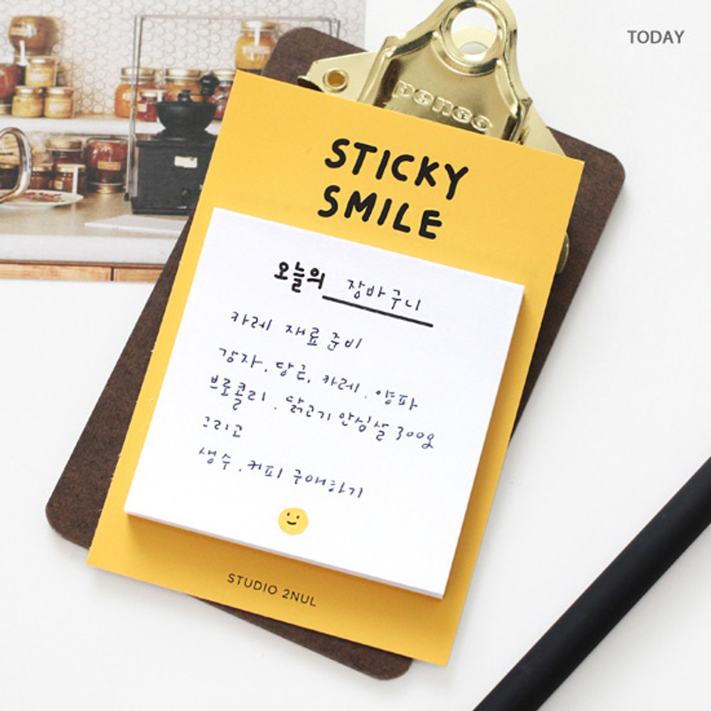 Today - 2NUL Smile sticky it memo notes notepad