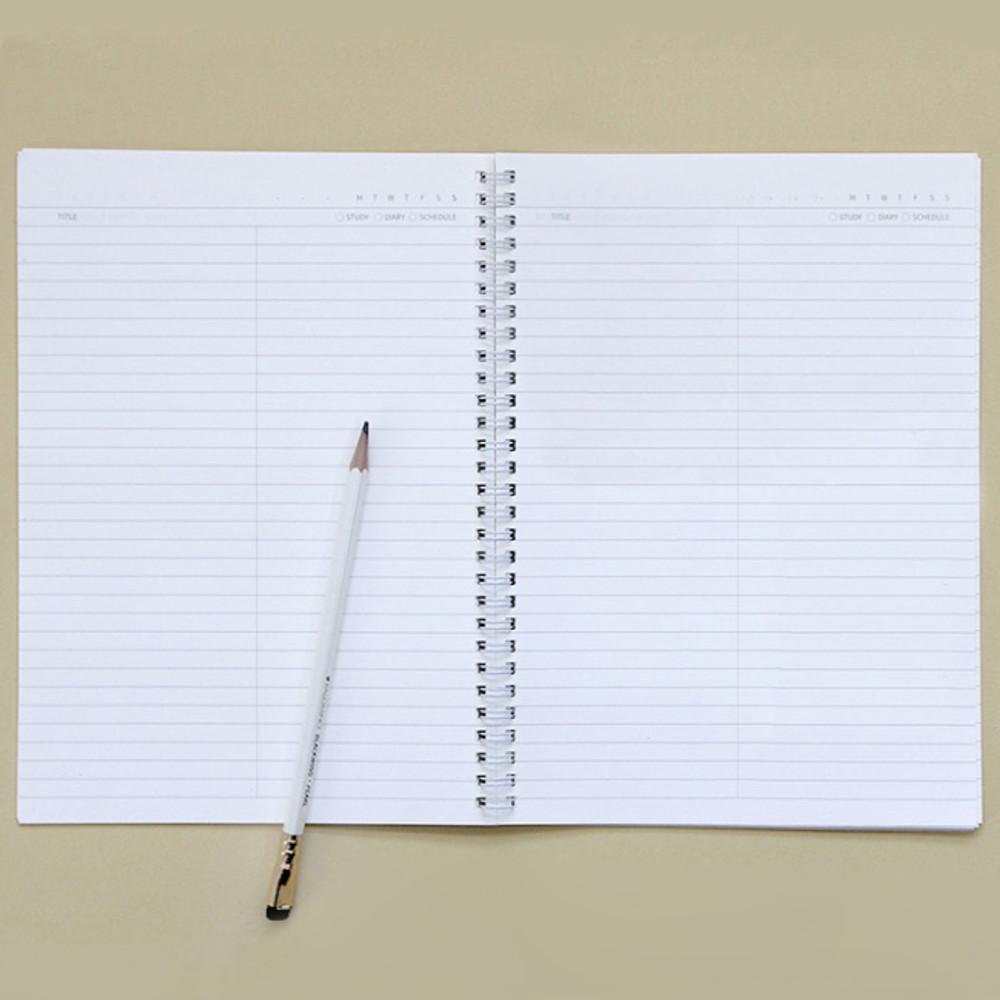 Gungmangzeung Lovable spiral bound lined notebook ver2