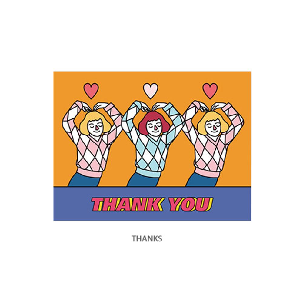 Thanks - Ardium Pop illustration message card envelope set