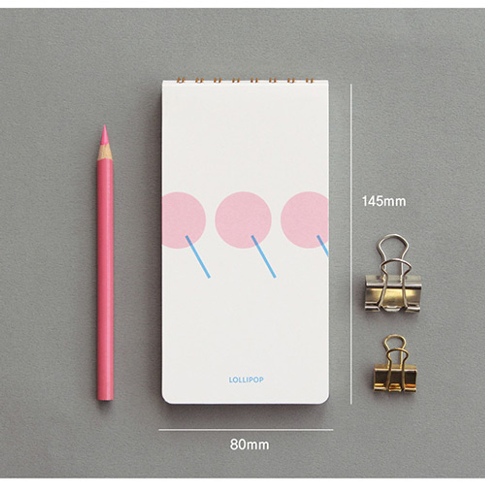 Size - designlab kki Combination spiral small lined blank notebook