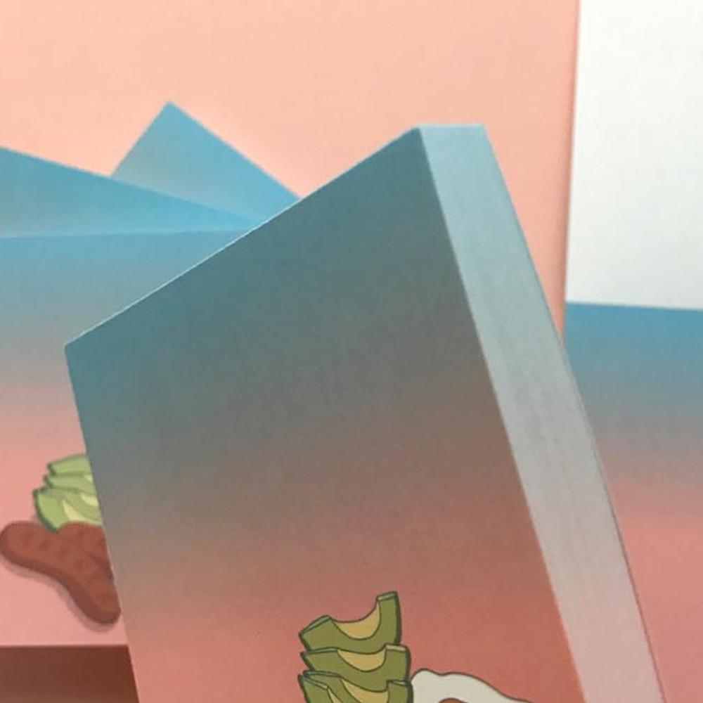 Detail of Memowang brunch illustration memo notepad