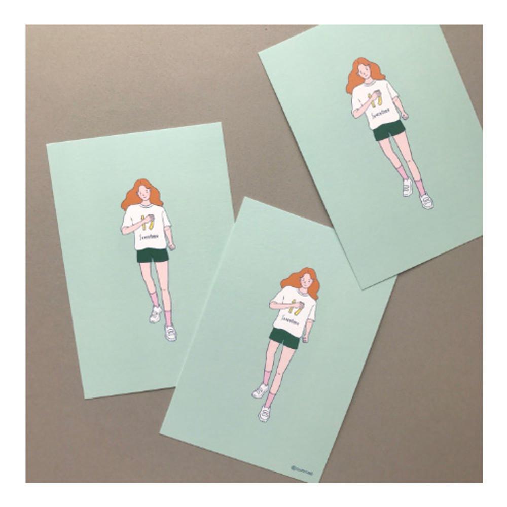 01 - CommaB pastel illustration postcard
