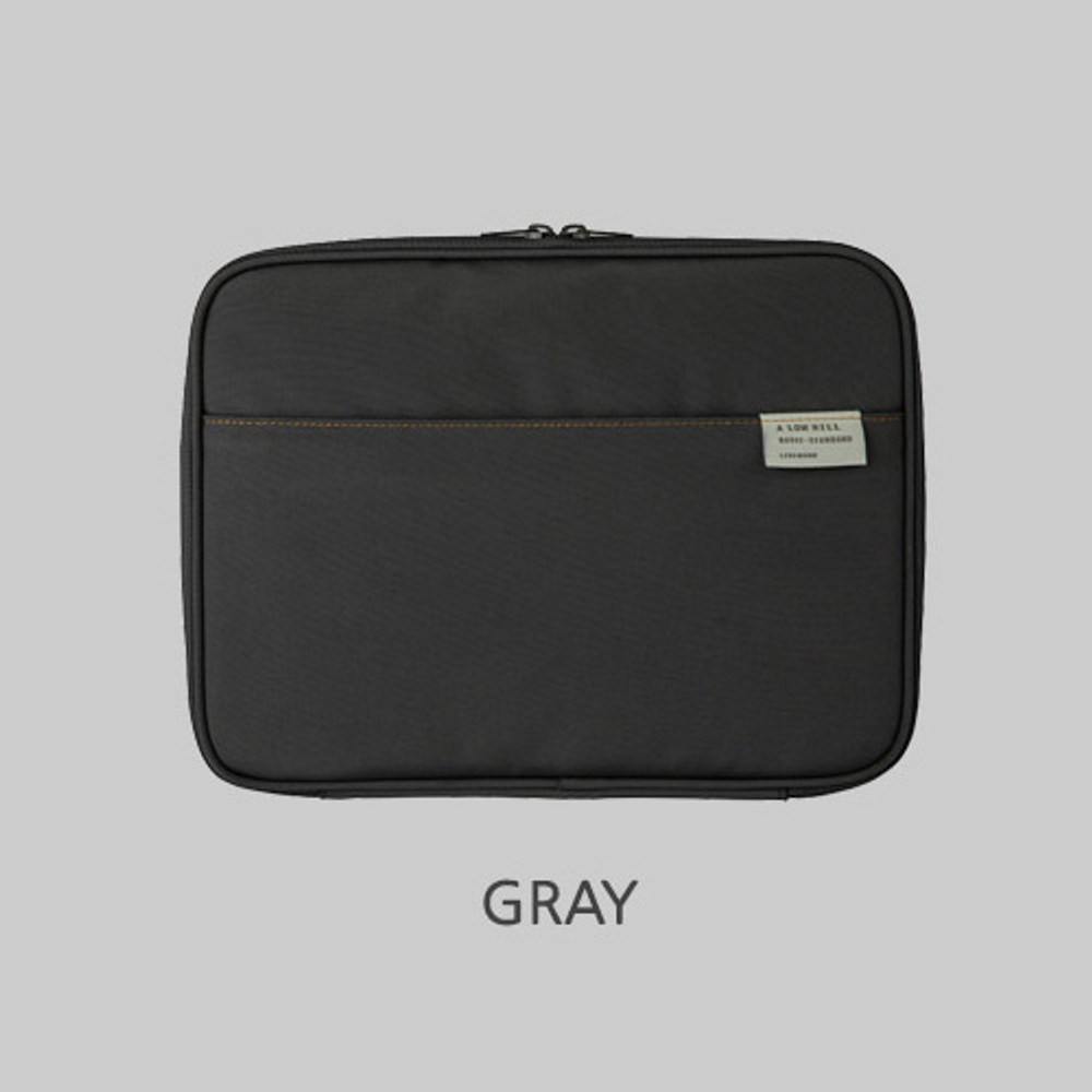 Gray - Livework A low hill basic pocket tablet iPad zip pouch ver5