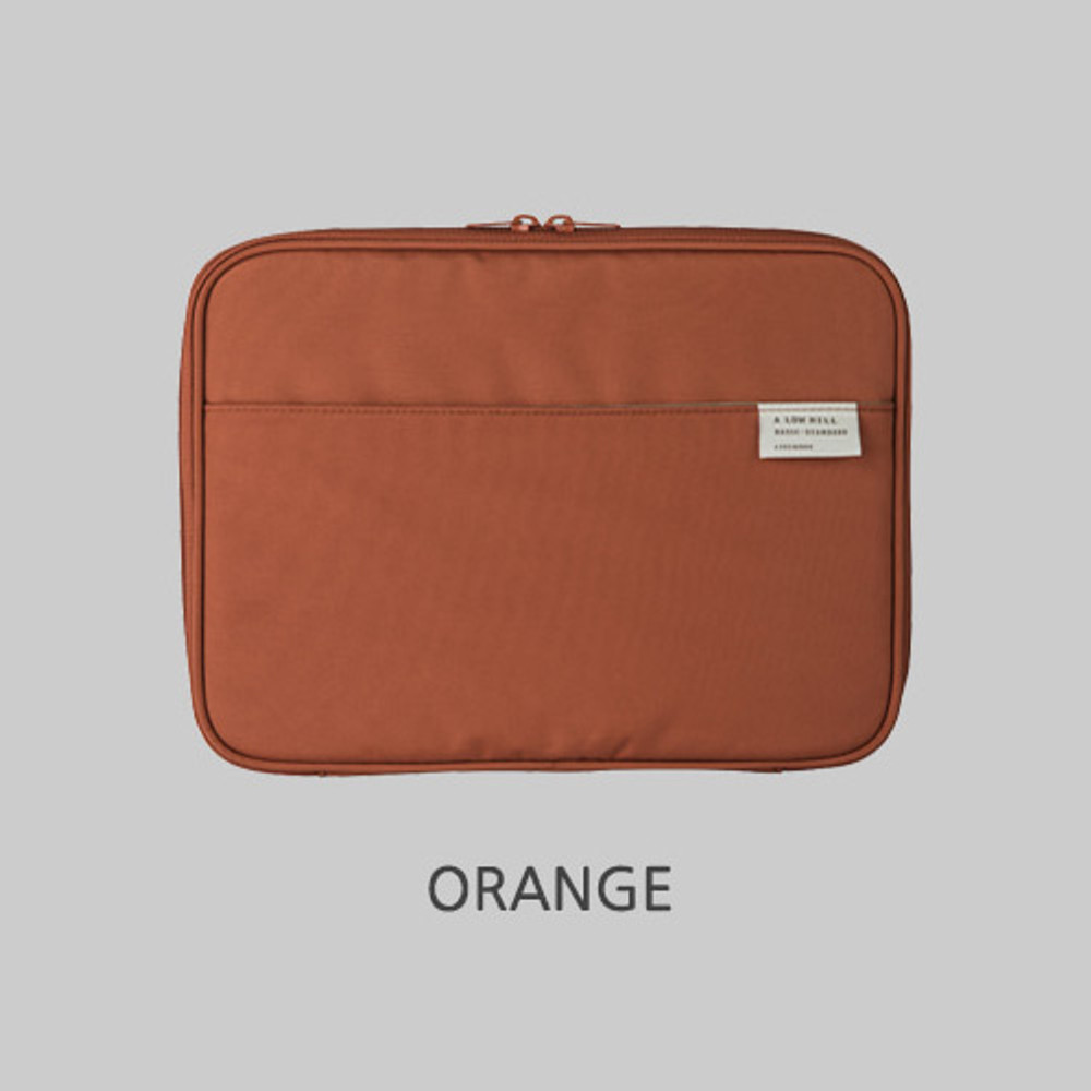 Orange - Livework A low hill basic pocket tablet iPad zip around pouch ver5