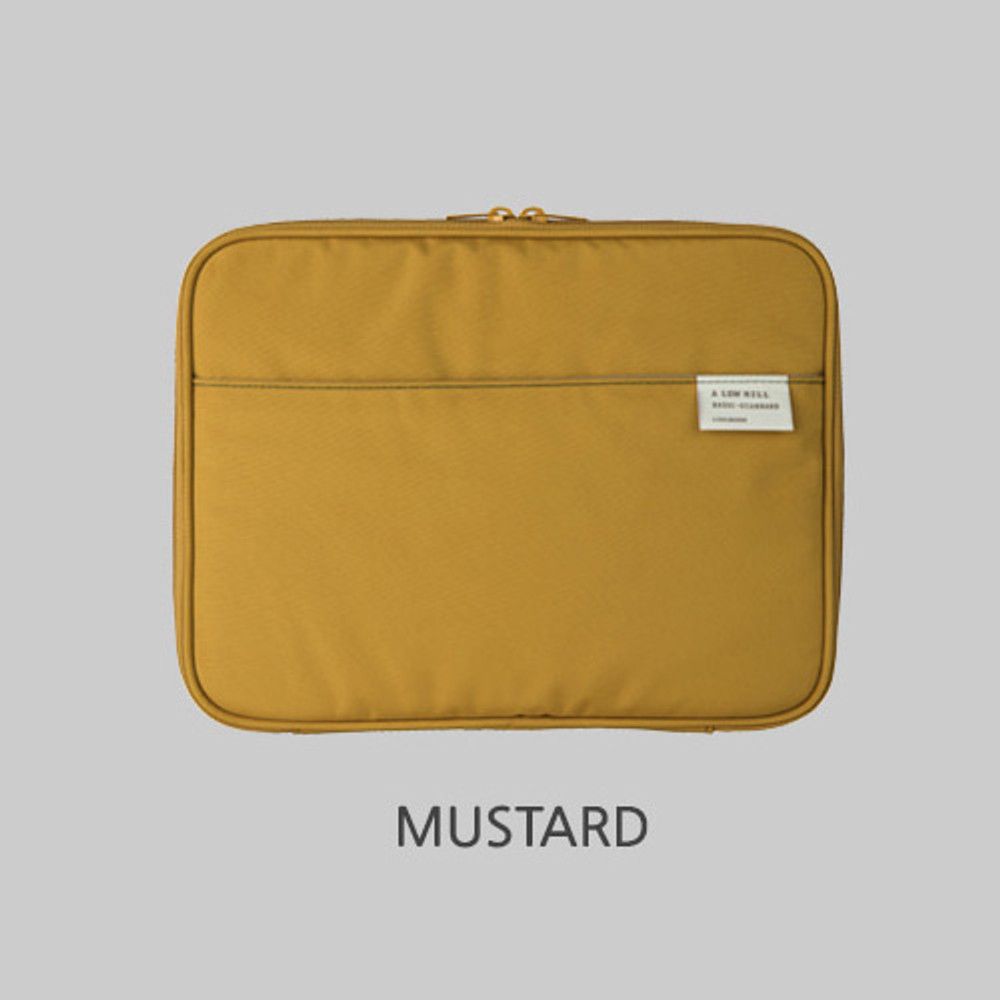 Mustard - Livework A low hill basic pocket tablet iPad zip pouch ver5