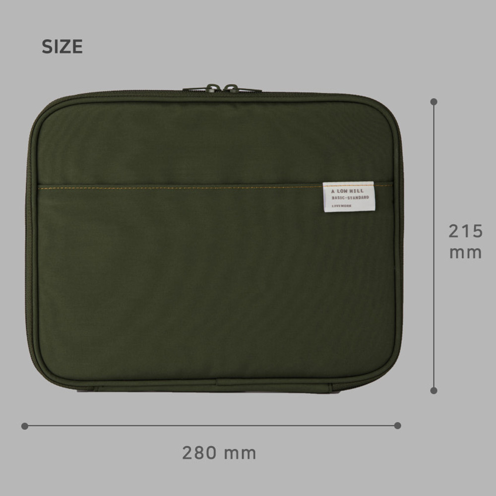 Size - A low hill basic pocket tablet iPad zip pouch ver5