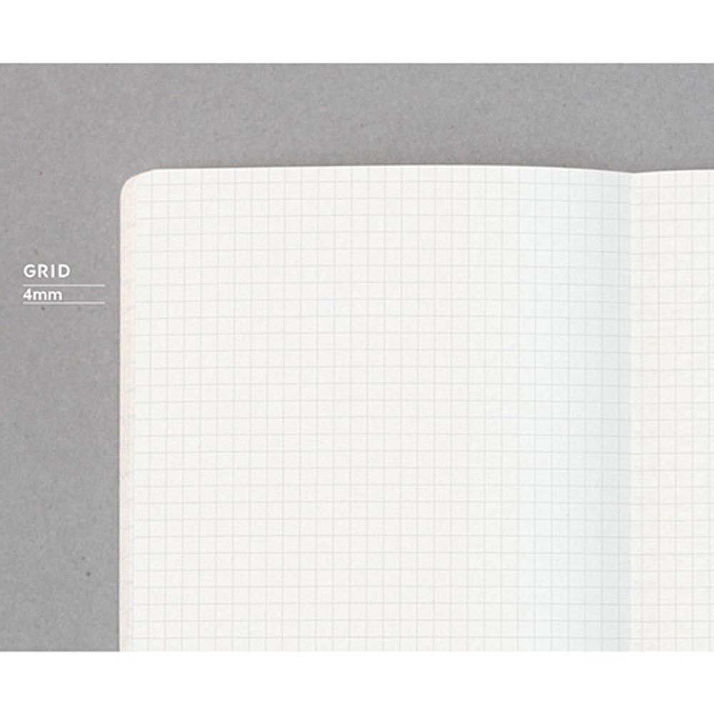 designlab kki Creative gray PU cover grid notebook