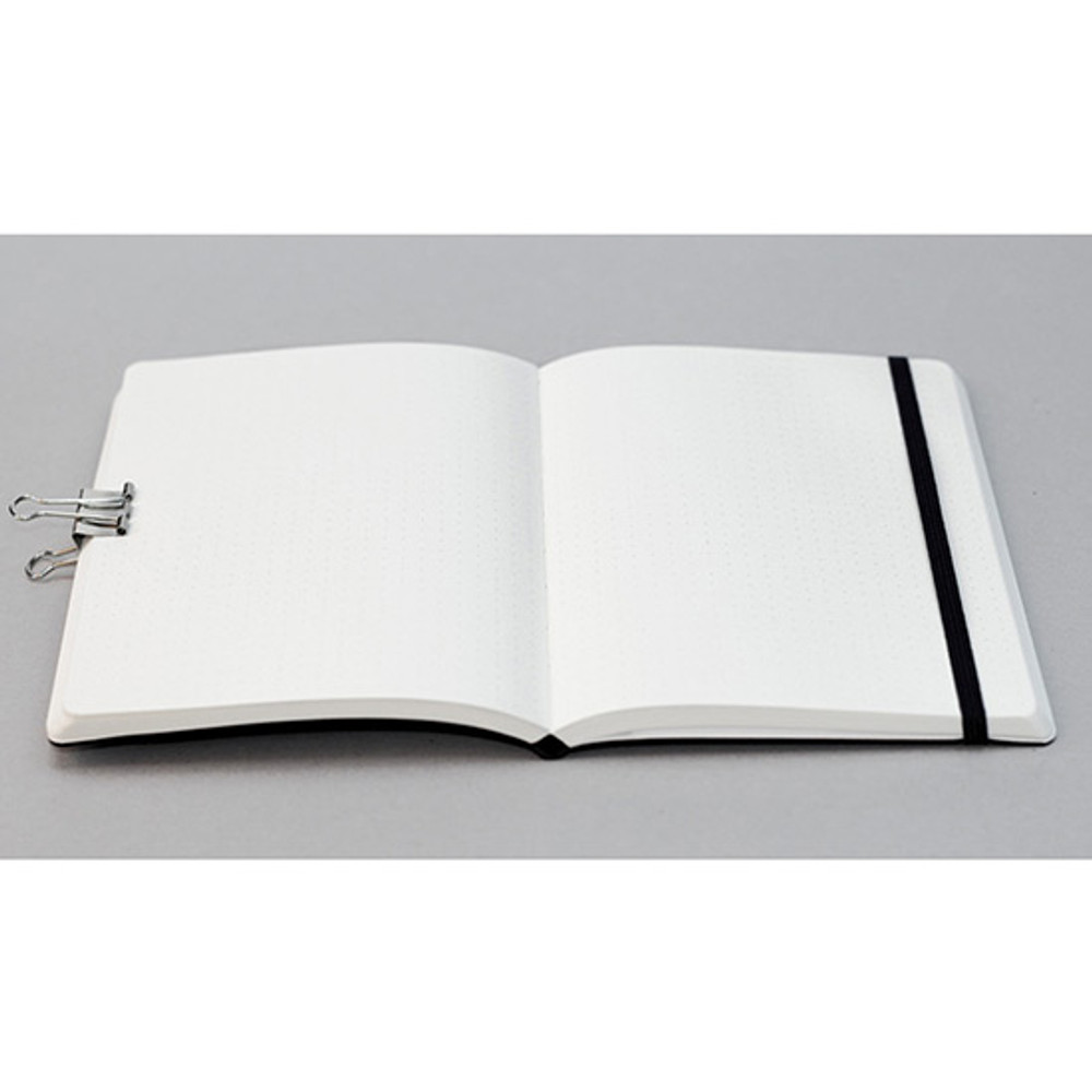 Open up to 180 degrees - designlab kki Creative gray PU cover grid notebook