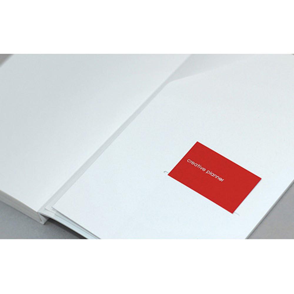 inner pocket - designlab kki Creative gray PU cover grid notebook