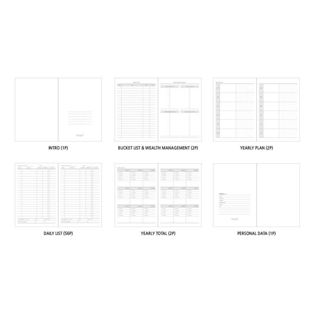 Composition - O-CHECK Spring come cash book planner