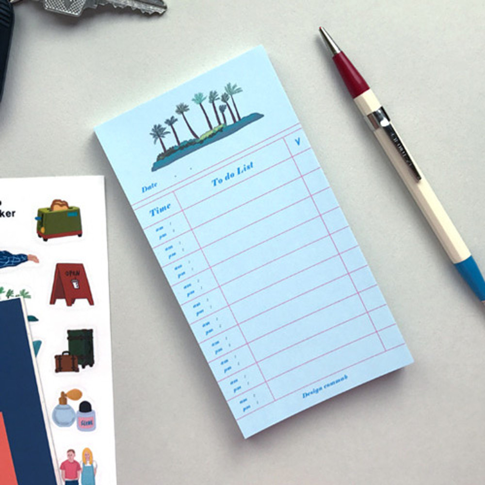 Island - CommaB illustration to do list notepad