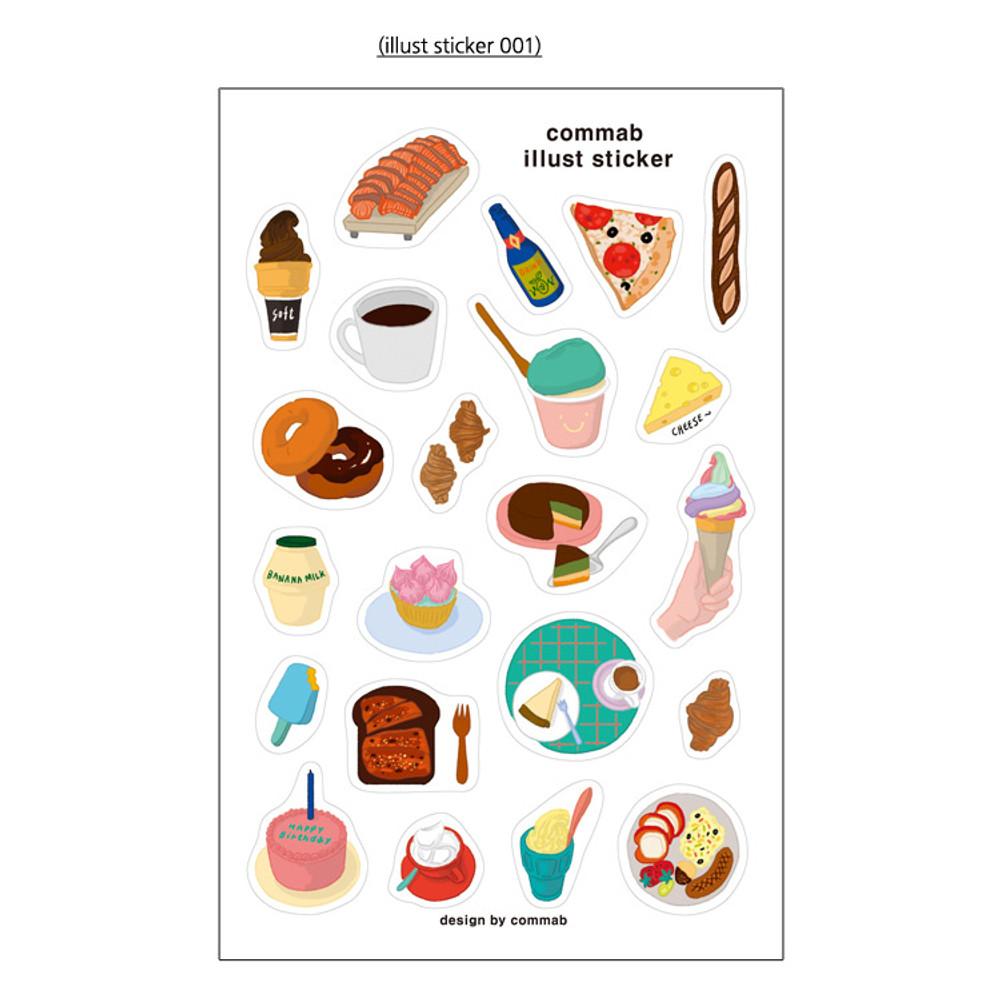 01 - CommaB illustration transparent clear sticker