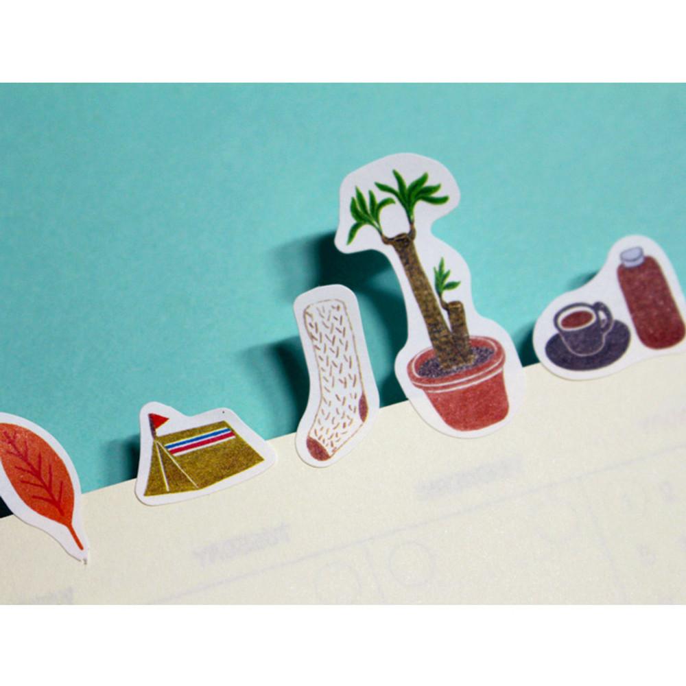 Detail of Oh my vintage illustration paper sticker set of 3 sheets