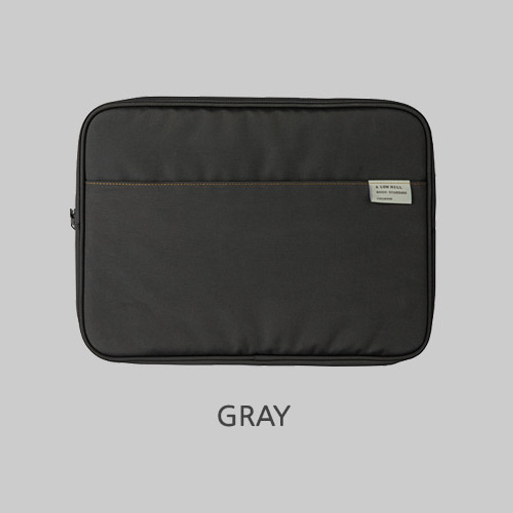 """Gray - A low hill basic pocket 13"""" laptop pouch case ver5"""