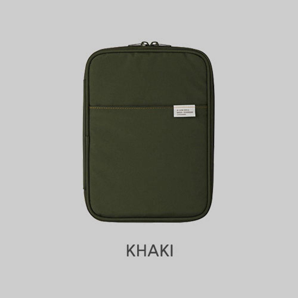 Khaki - A low hill basic pocket book reader diary pouch case ver5