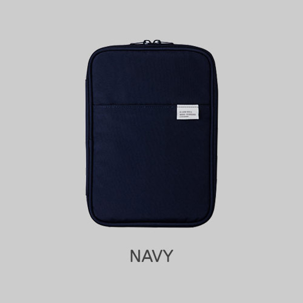 Navy - A low hill basic pocket book reader diary pouch case ver5