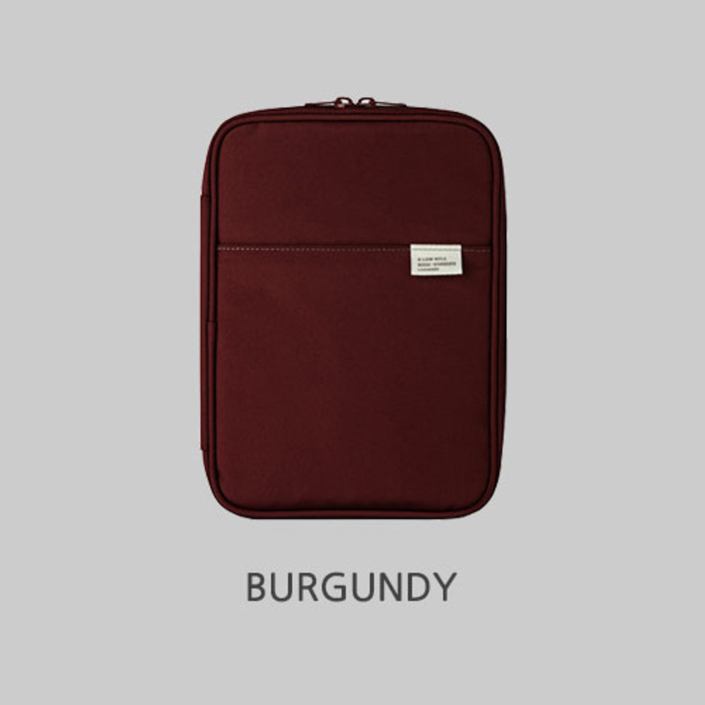 Burgundy - A low hill basic pocket book reader diary pouch case ver5