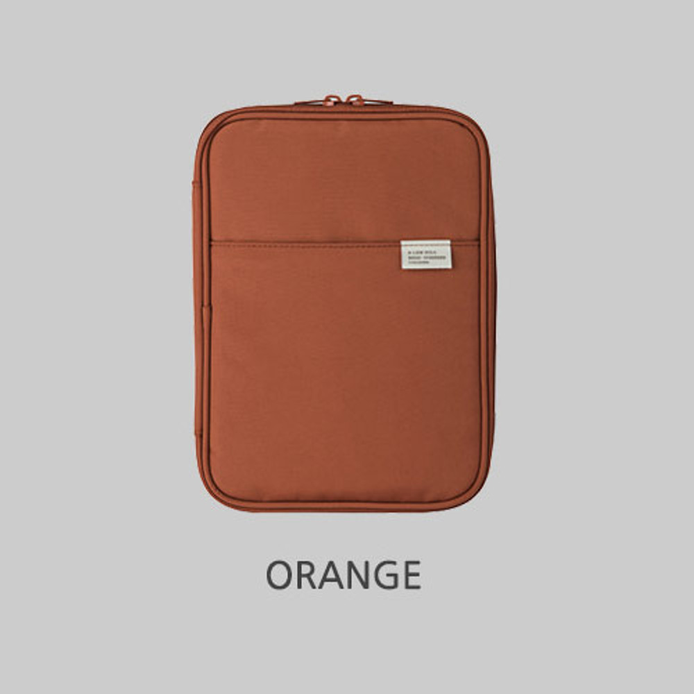 Orange - A low hill basic pocket book reader diary pouch case ver5