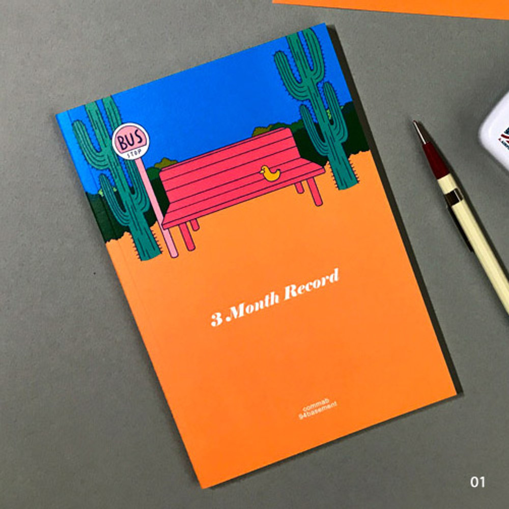 01 bench - Record 3 months dateless weekly diary