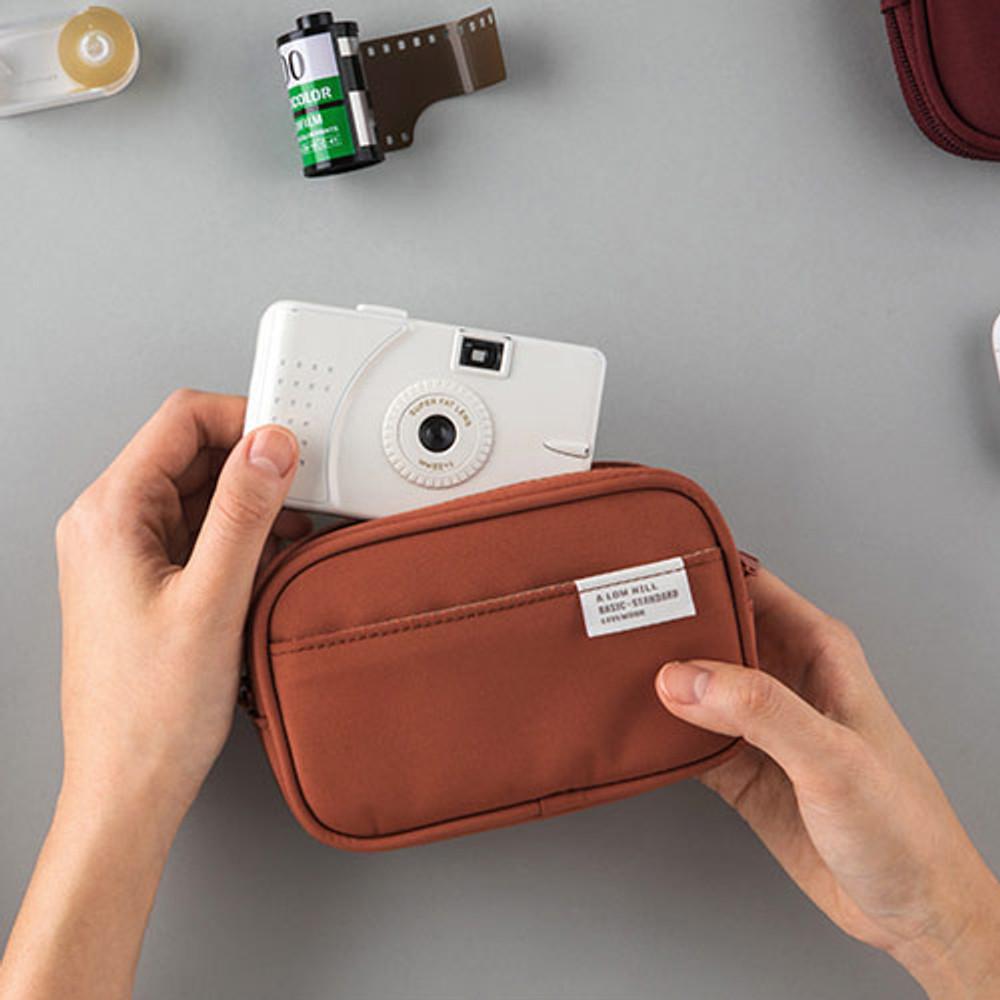 Livework A low hill basic pocket camera zipper pouch case ver5