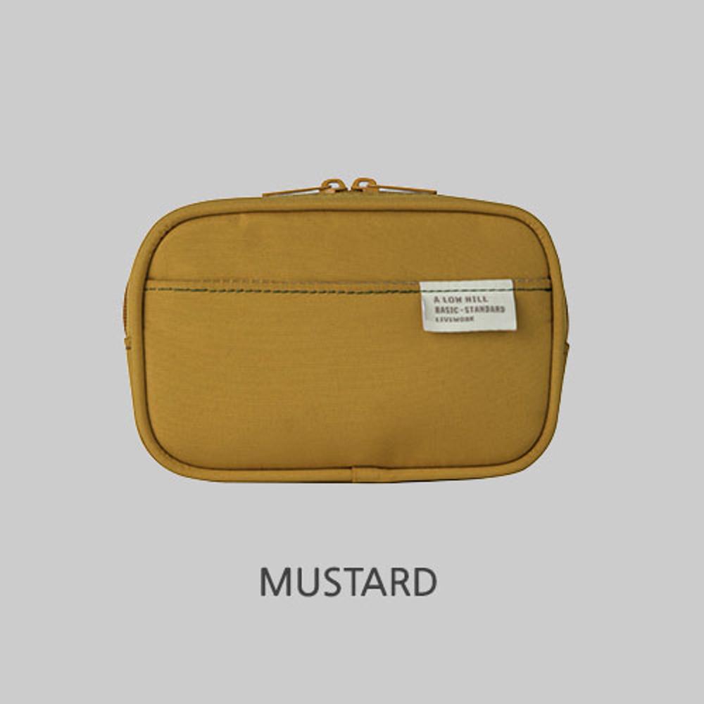 Mustard - A low hill basic pocket camera zipper pouch case ver5