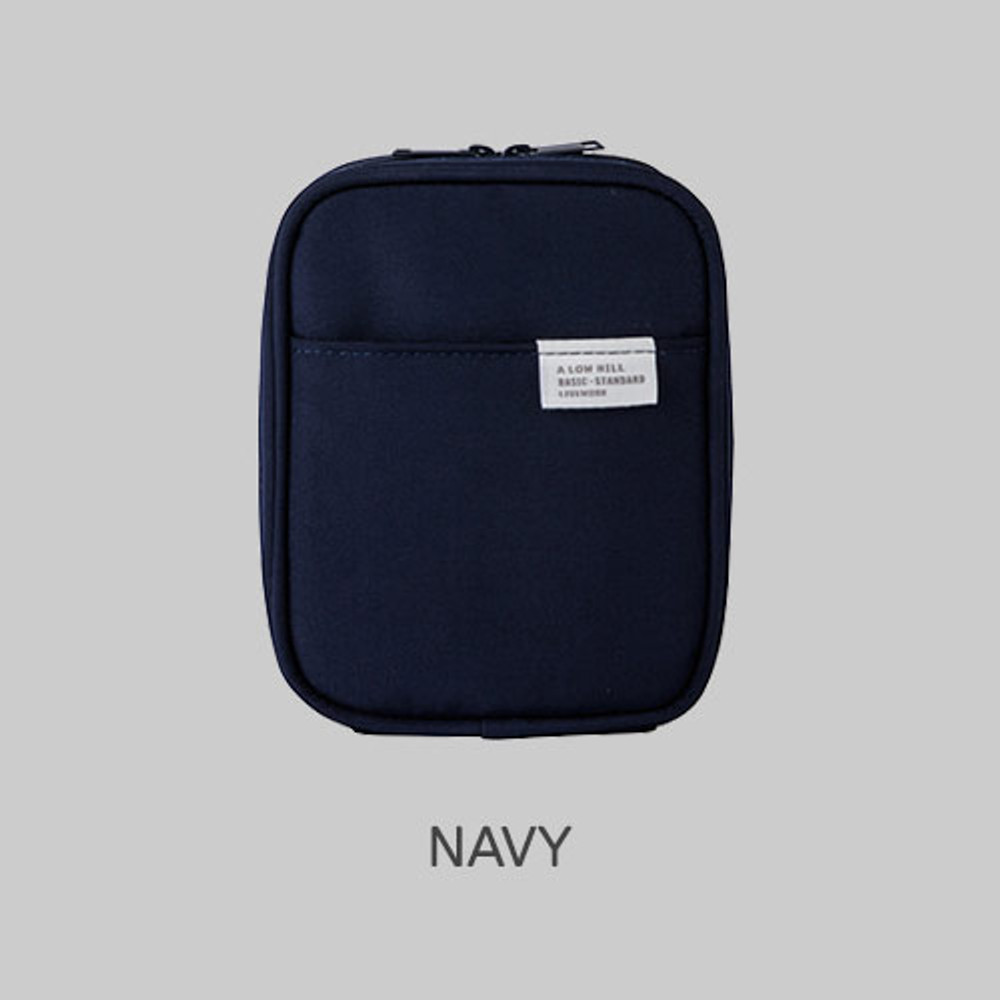 Navy - Livework A low hill basic pocket cable zipper pouch case ver5