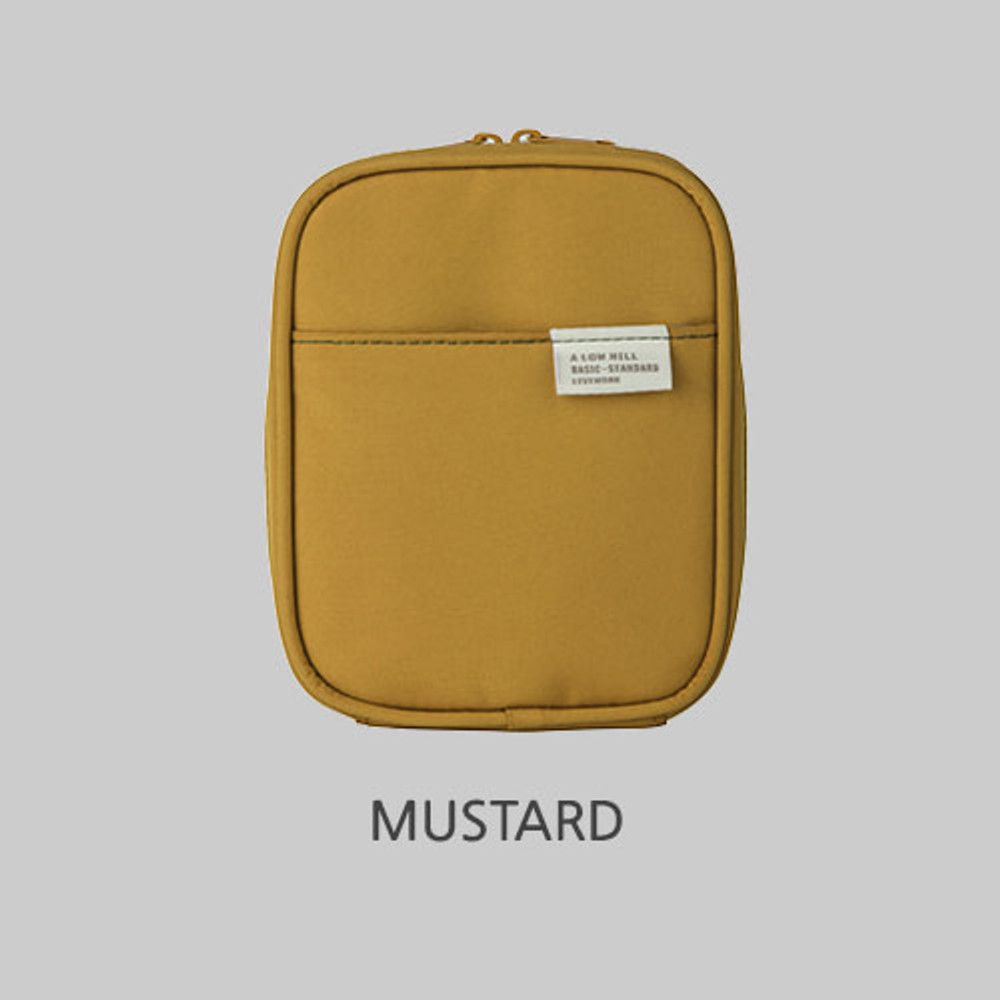 Mustard - Livework A low hill basic pocket cable zipper pouch case ver5