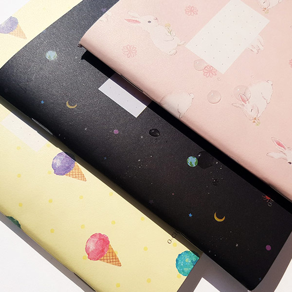 Water resistant - O-CHECK Spring come small dot school notebook