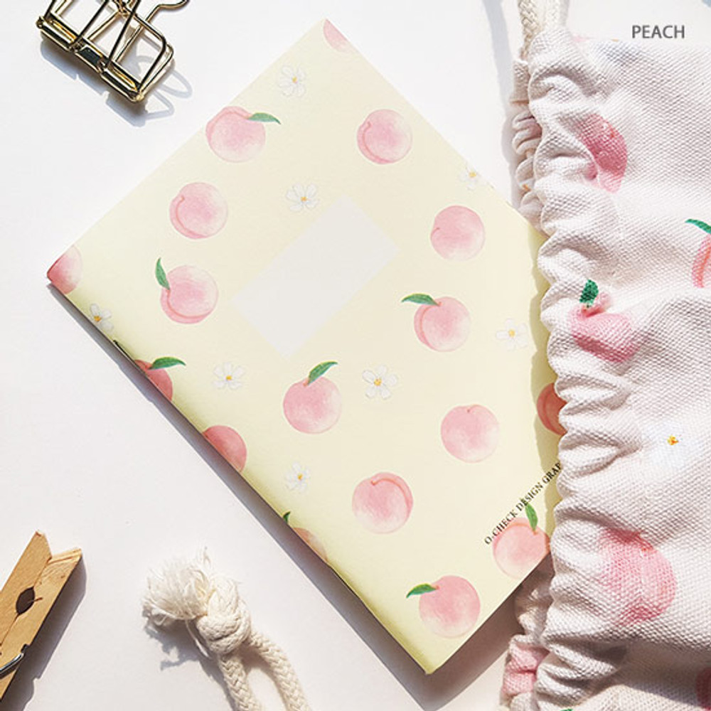 Peach - O-CHECK Spring come small blank school notebook