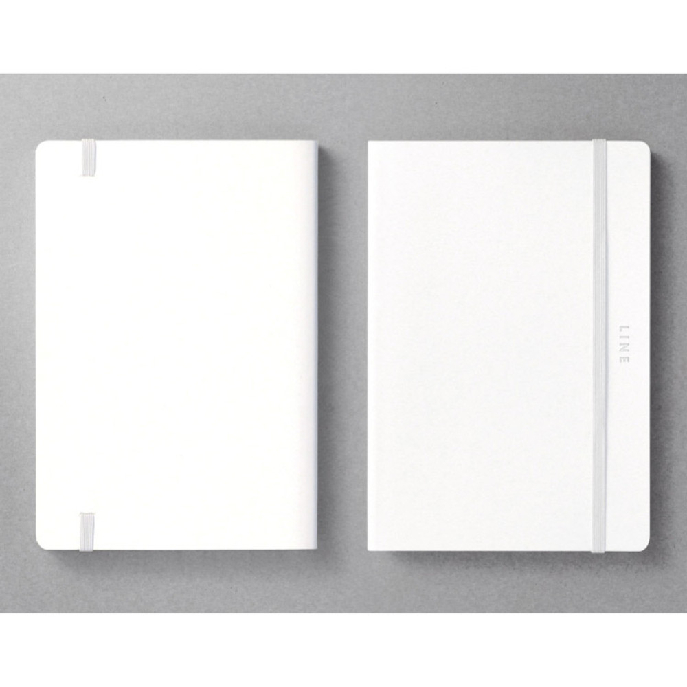 Front and back - Creative natural white PU cover lined notebook