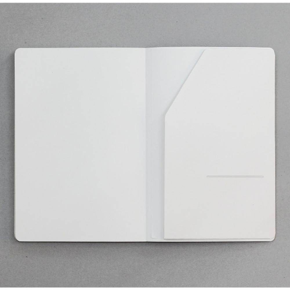 Inner paper pocket - designlab kki Creative navy PU cover dotted notebook