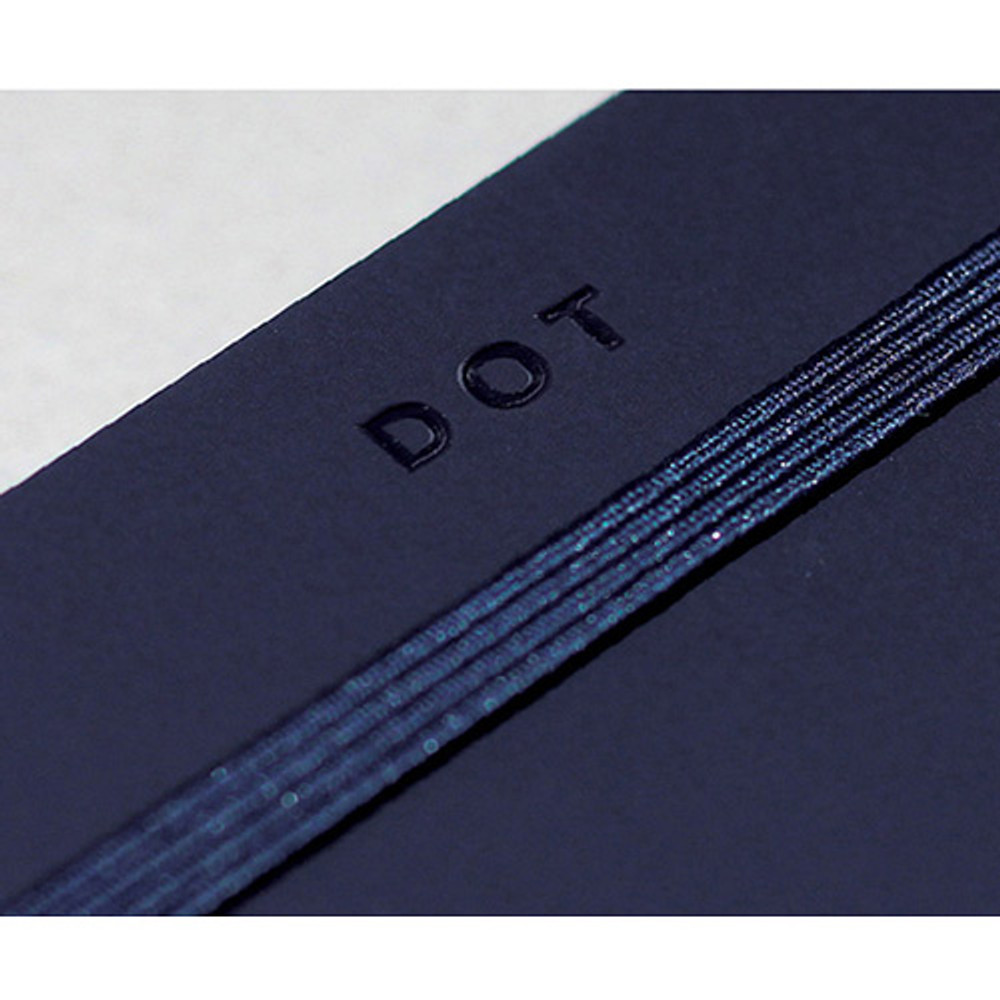 Elastic band closure - designlab kki Creative navy PU cover dotted notebook