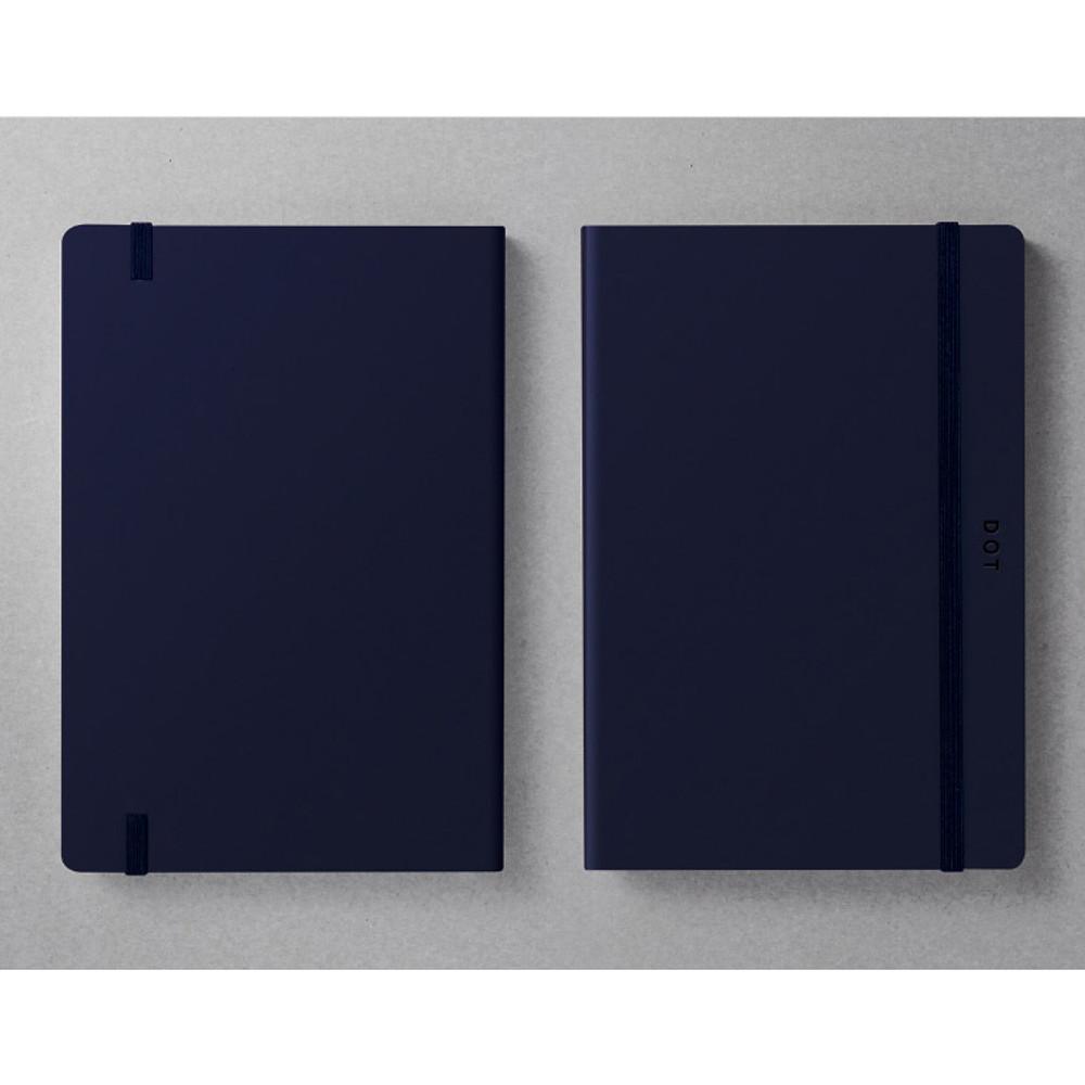 designlab kki Creative navy PU cover dotted notebook