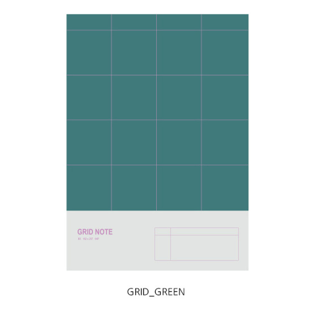 Grid - O-CHECK Spring come large school notebook