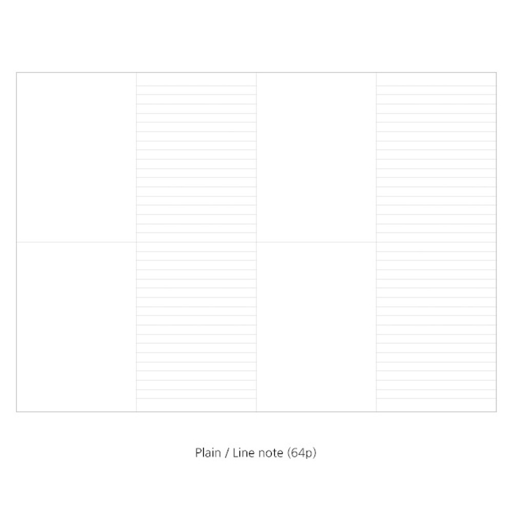 Plain-lined - O-CHECK Spring come large school notebook