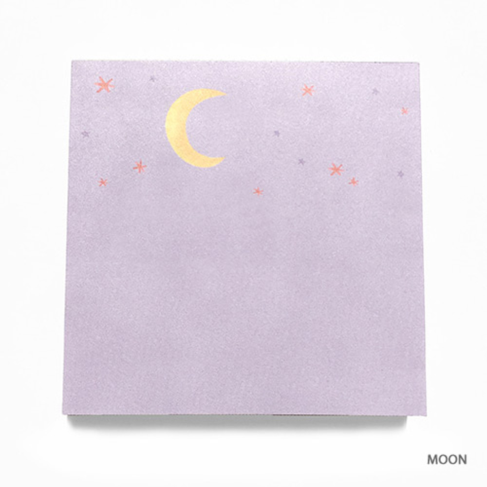 Moon - Vintage and cute illustration memo writing notepad
