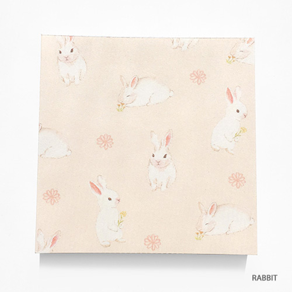 Rabbit - Vintage and cute illustration memo writing notepad
