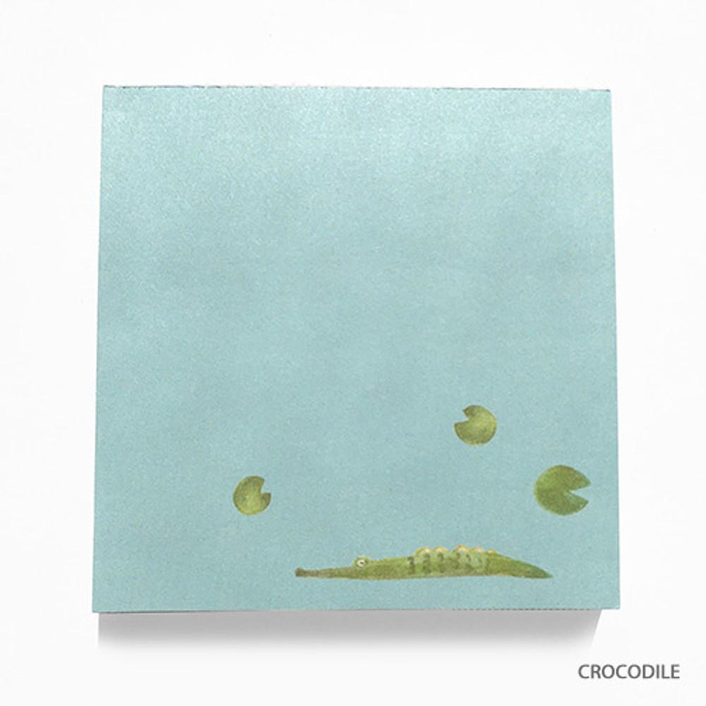 Crocodile - Vintage and cute illustration memo writing notepad
