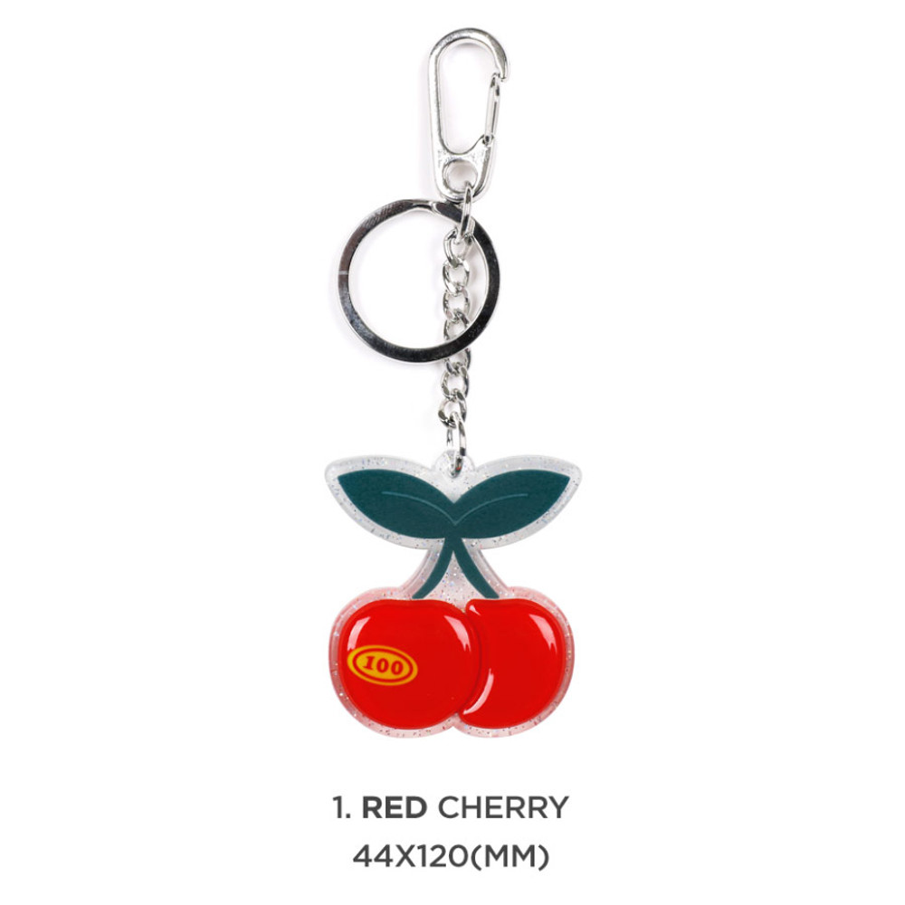 01 red cheery - 90s coolkids party epoxy keyring keychain