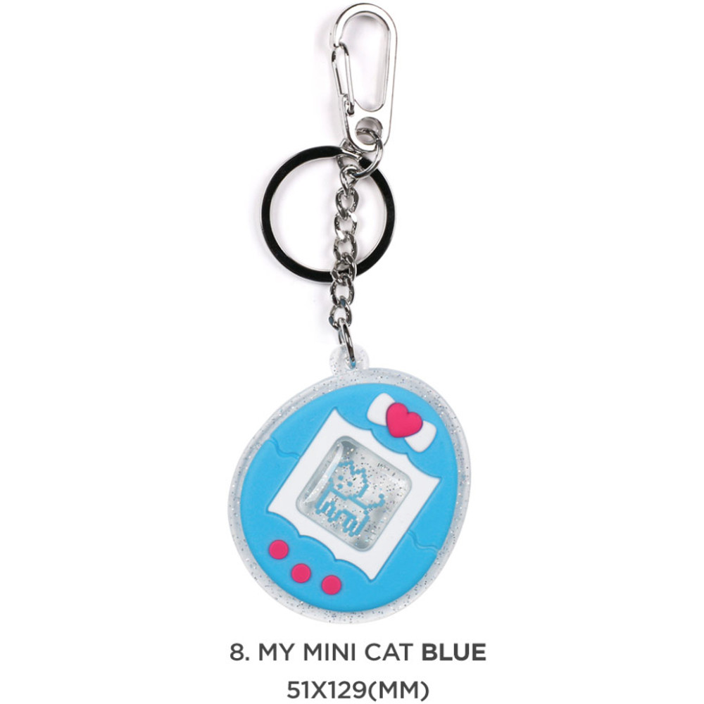 08 My mini cat blue - 90s coolkids party epoxy keyring keychain