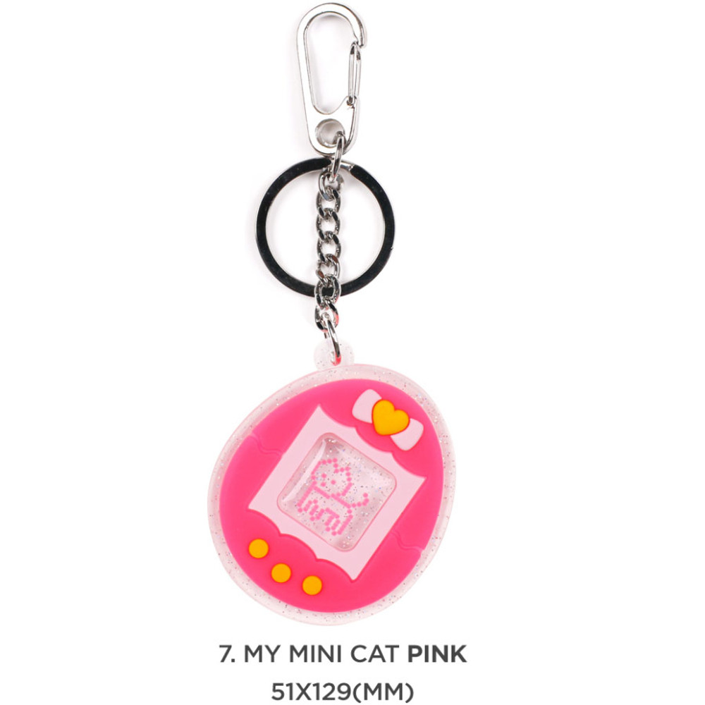 07 My mini cat pink - 90s coolkids party epoxy keyring keychain